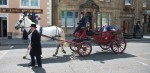 A horse-drawn carriage, of which there were more than one