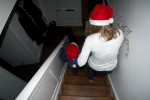 Chrismas morning going down the stairs